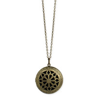 Essential Oils Diffuser Locket Necklace - Gold