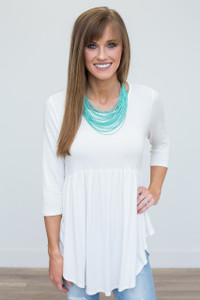 Solid Babydoll Tunic - Ivory