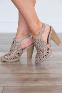 Show Stopping Slingbacks - Taupe