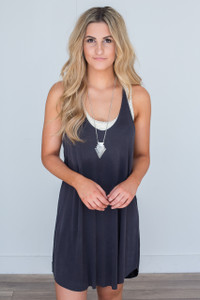 Racerback Cami Dress - Charcoal
