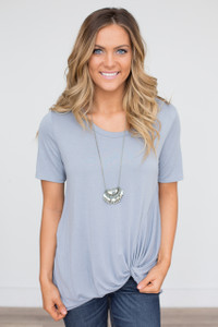 Solid Knot Tee - Light Slate