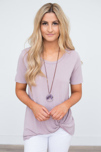 Solid Knot Tee - Light Mauve