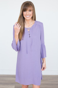 Jack By BB Dakota: Lace Up Dress - Lavender - FINAL SALE