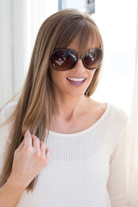 Jackie O Oversized Sunglasses - Tortoise Shell - FINAL SALE