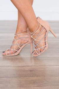 Formal Affair Strappy Heels - Blush