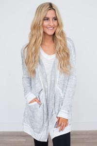 Hooded Vintage Wash Sweatshirt - Grey