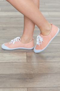 Top Down Lace Up Sneaker - Blush