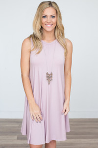 Sleeveless Swing Knit Dress - Dusty Rose - FINAL SALE