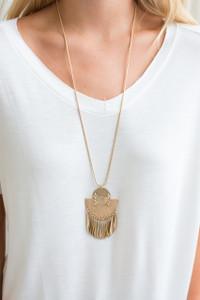 Warrior Pendant Necklace - Gold