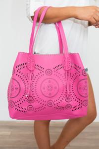 Havana Die Cut Tote Bag - Hot Pink