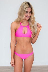 Beach Bunny Bikini Top - Hot Pink