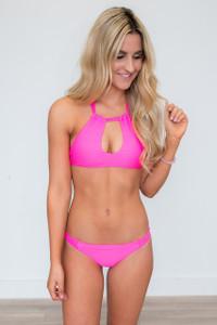 Beach Bunny Bikini Top - Hot Pink