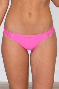 Beach Bunny Cheeky Bikini Bottoms - Hot Pink