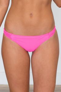Beach Bunny Cheeky Bikini Bottoms - Hot Pink - FINAL SALE
