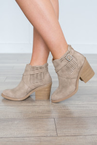 Side Buckle Bootie - Stone