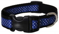 Pembroke Polka Dot Dog Collar-Blue