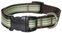 York Stripe Dog Collar-Green Bean