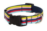 Paw Paws Bubble Gum Dog Collar - Yummy Gummy on Blue Stripe Collar