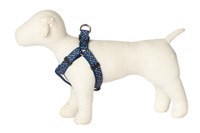Bubble Gum Dog Harness - Tutti Frutti on Blue