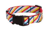 Bubble Gum Dog Collar - Mumbo Jumbo on Red