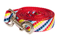 Bubble Gum Dog Leash - Mumbo Jumbo on Red