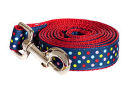 Bubble Gum Dog Leash - Tutti Frutti on Red