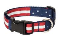 Americana Park Dog Collar-Americana Flag