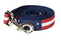 Americana Park Dog Leash-Americana Flag