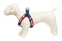 Americana Park Dog Harness-Americana Flag