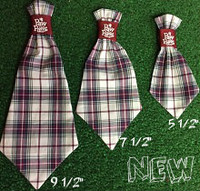 Dog Neck Ties - Burgundy Plaid