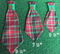 Dog Neck Ties - Christmas Plaid