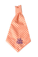 Southern Charm Collection - Checks Orange - Neck Tie