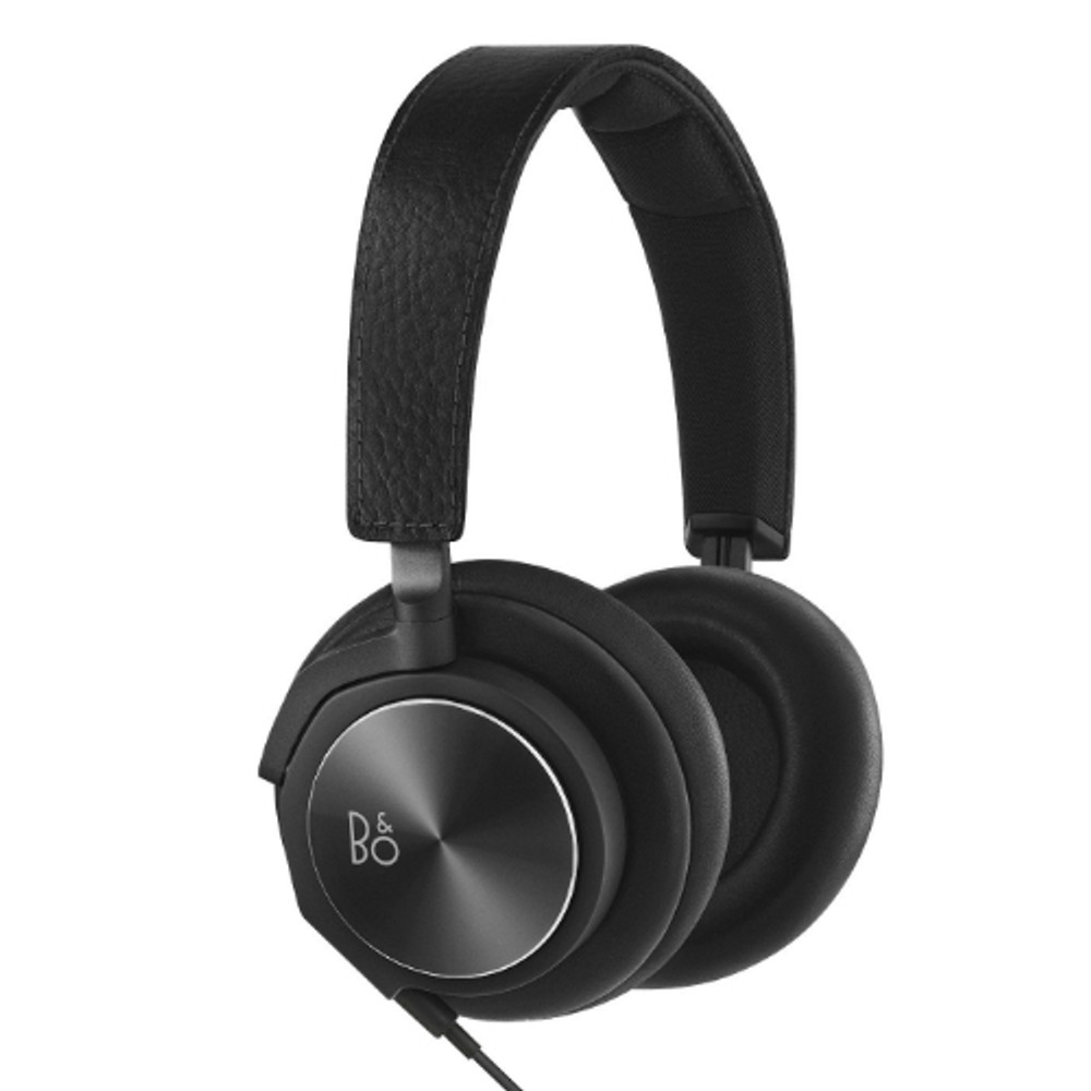 bang olufsen beoplay h6 black leather headphones sg. Black Bedroom Furniture Sets. Home Design Ideas