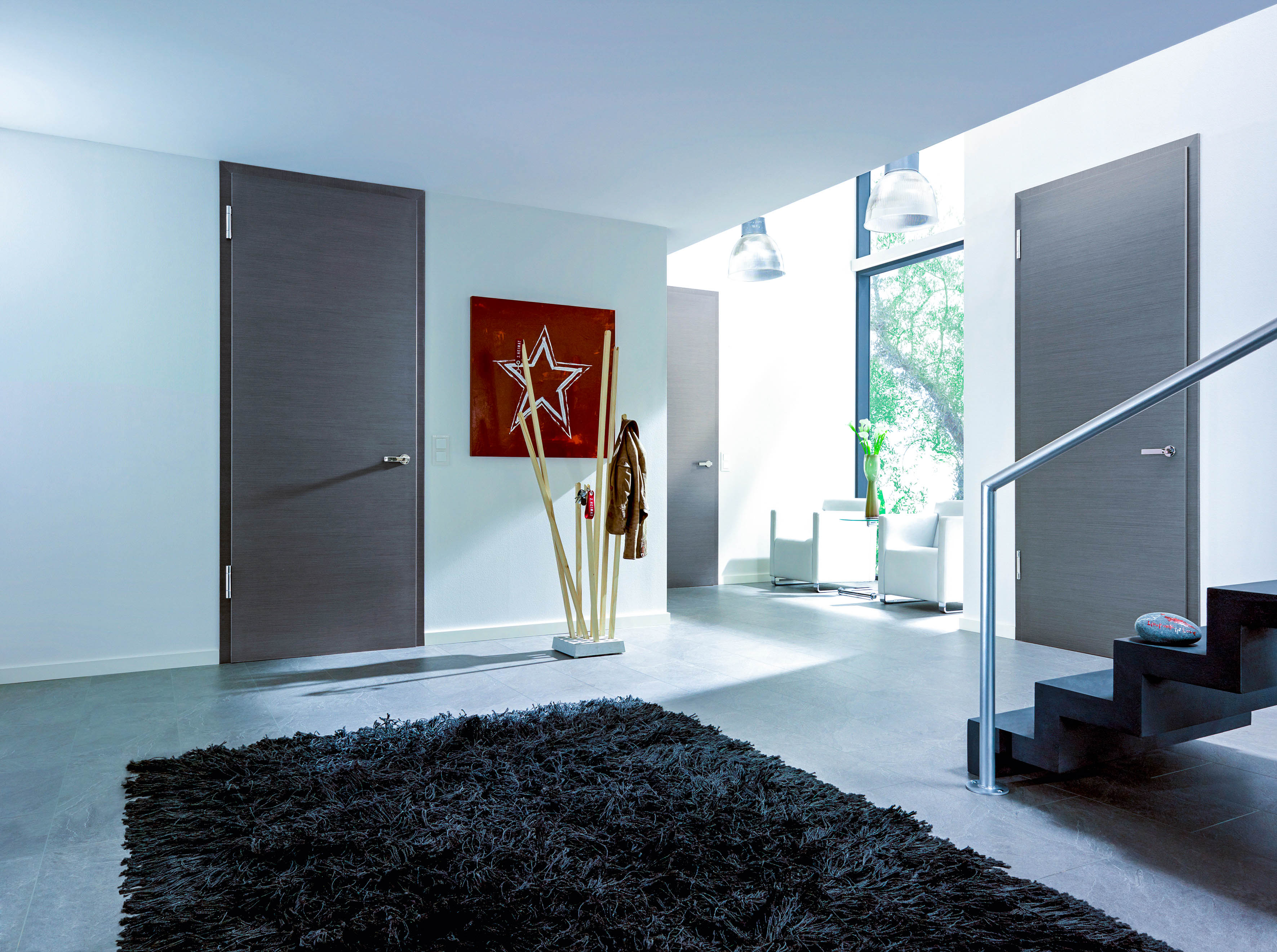 Dark Grey Painted Interior Doors