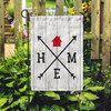 Home Arrows Garden Flag on display