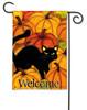 Pumpkin Patch Cat Halloween Garden Flag
