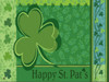 Happy St. Pat's Doormat without Tray.