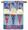 "Scoops of Summer House Flag - 28"" x 40"" - 2 Sided Message"
