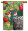 "Orchard Bluebird House Flag - 28"" x 40"""