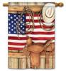 Patriotic House Flag - BreezeArt