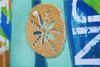 Oars Burlap Decorative Garden Flag with sand dollar