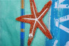 Oars Burlap Decorative House Flag with star fish