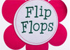 Life is Good in Flip Flops Applique House Flag with 3-D spinner