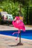 Pink Flamingo Felt Yard Decor