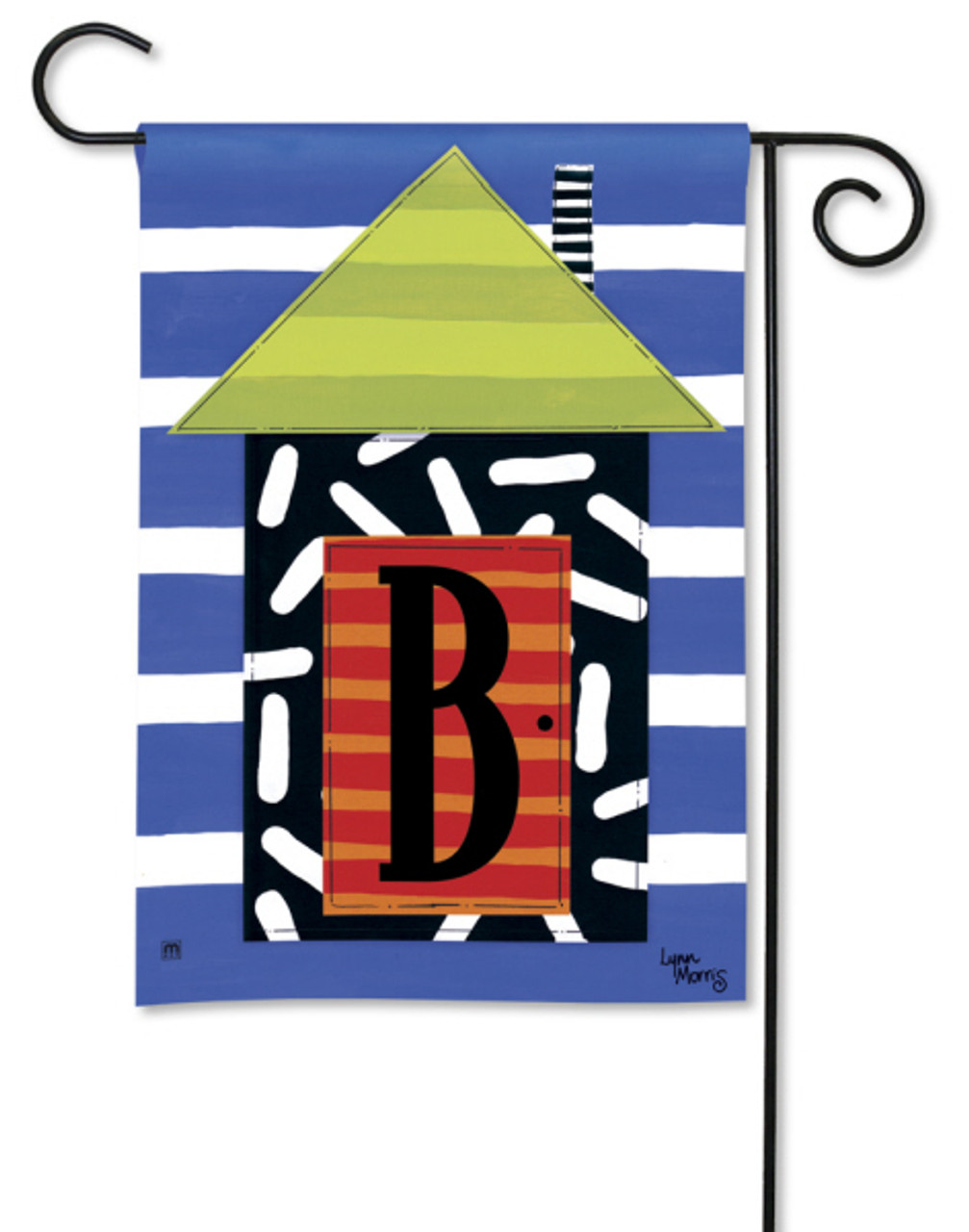 Monogram House Party Garden Flag Letter B Breeze Art