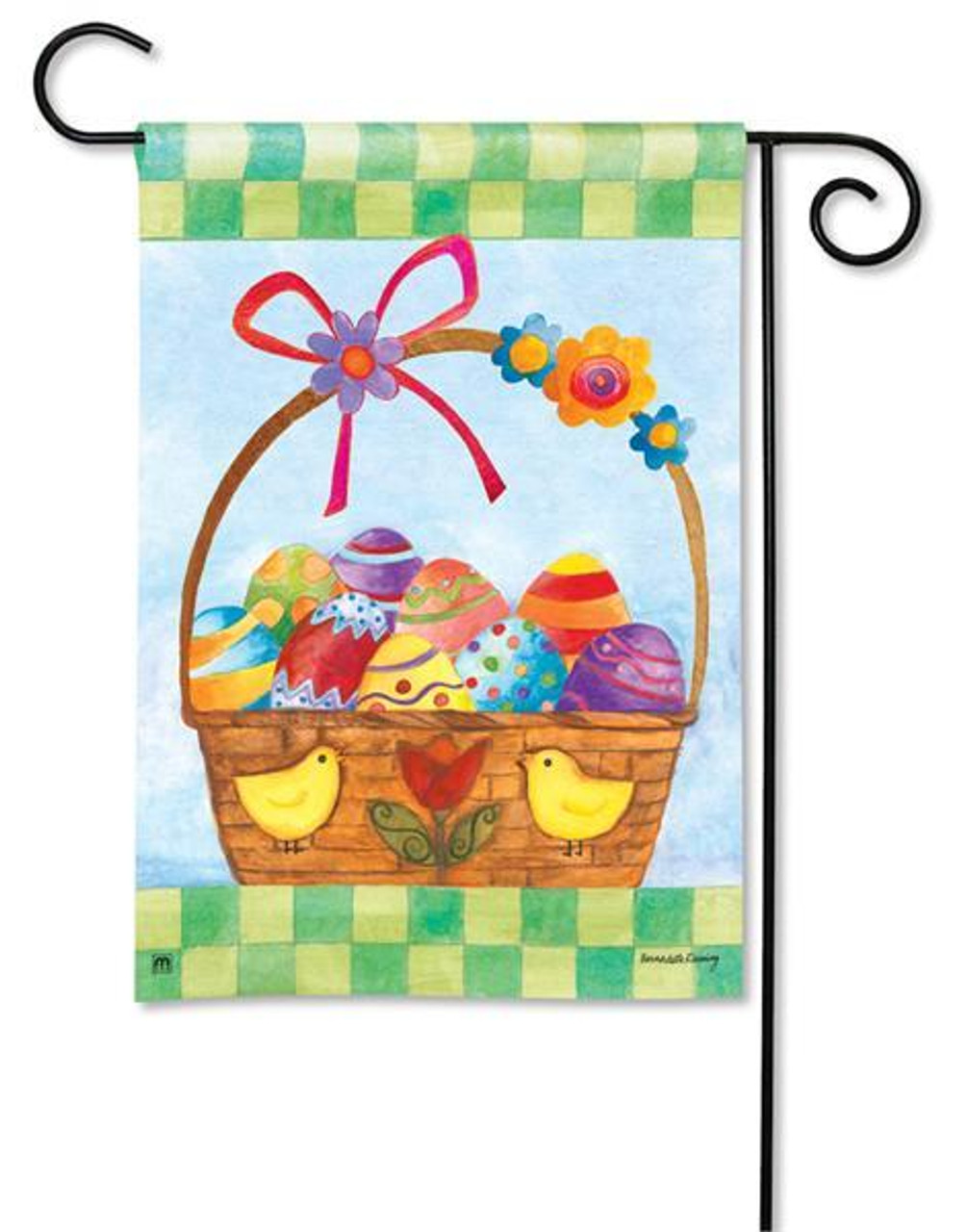 Basket For The Bunny Easter Garden Flag 12 5 X 18