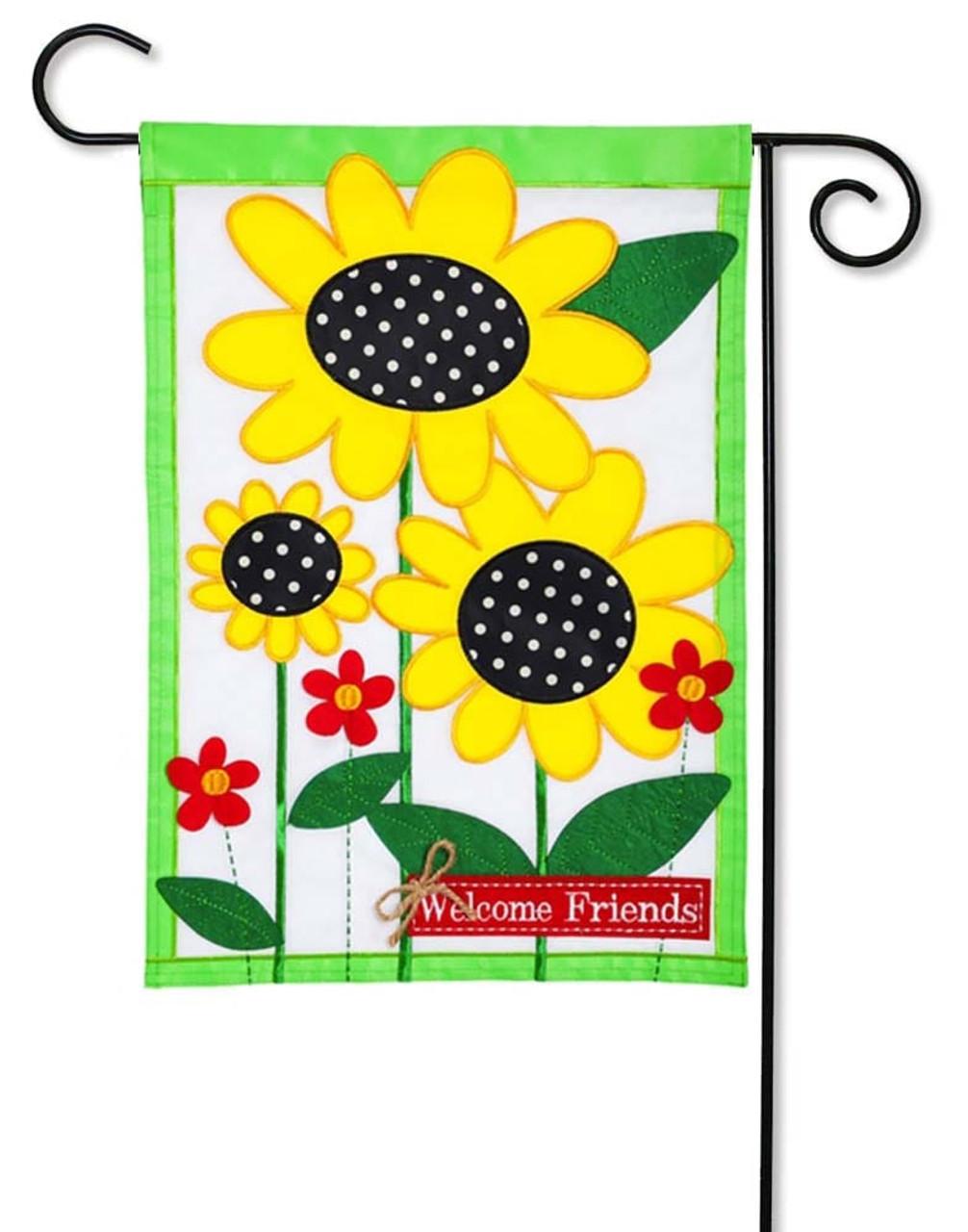 Sunflowers Applique Garden Flag
