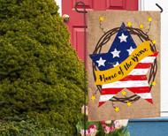 Decorative Burlap Garden  Flags
