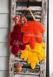 Gorgeous Fall Door Decor by Evergreen