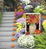 Outdoor Fall Flags by Susan Winget